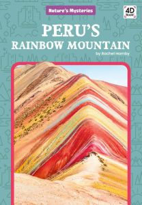 Book cover with an image of a mountain with different colors of layered rock.